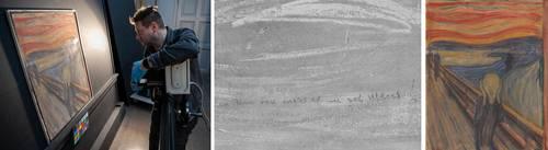 """El Museo Nacional de Noruega concluyó ayer que la inscripción: """"Sólo pudo haber sido pintado por un loco"""", añadida a la obra El grito, de Edvard Munch, no fue trazada por nadie más que por el propio artista. Escrita en lápiz, en la esquina izquierda de la parte superior del icónico lienzo, las breves palabras en noruego han alimentado durante mucho tiempo las conjeturas sobre la identidad de su autor. """"El examen por termografía infrarroja (cuyas imágenes fueron difundidas por el museo) nos llevó a esa conclusión"""", señaló la curadora Mai Britt Guleng en un comunicado. (Con información de Afp)."""