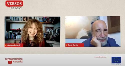 Belli y Zurita en la reunión de poetas a realizarse cada dos meses.