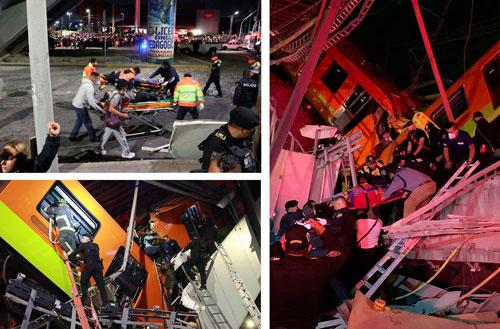 Tras el colapso de la ballena, los cuerpos de emergencia de la ciudad, apoyados por personal de la Guardia Nacional y la Secretaría de Marina, rescataron a los heridos.