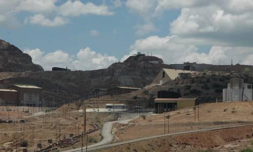 Aspecto de la mina de Cananea, Sonora, donde mil 200 trabajadores fueron despedidos en 2007.