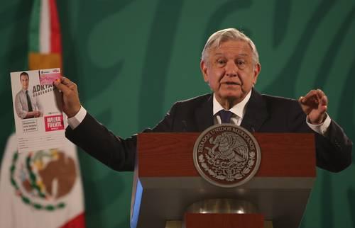 El presidente Andrés Manuel López Obrador, en la mañanera de ayer en Palacio Nacional, se refirió a la campaña proselitista del candidato priísta al gobierno de Nuevo León, Adrián de la Garza.