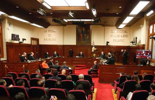 En imagen de archivo, sesión de impartidores de justicia.