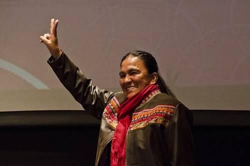 En imagen de archivo, Milagro Sala, activista indígena y dirigente de Tupac Amaru.