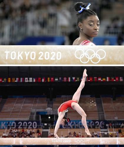 """""""Lo hice por mí y estoy orgullosa de haber sido capaz de volver a competir"""", afirmó la estadunidense. La china Guan Chenchen se quedó con el oro en la viga de equilibrio."""