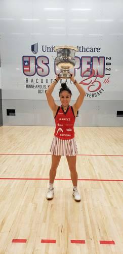 Desde 2011, la mexicana Paola Longoria es la reina indiscutible del Abierto de Estados Unidos de raquetbol.
