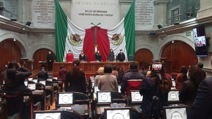 Sesión ordinaria de la Legislatura mexiquense.