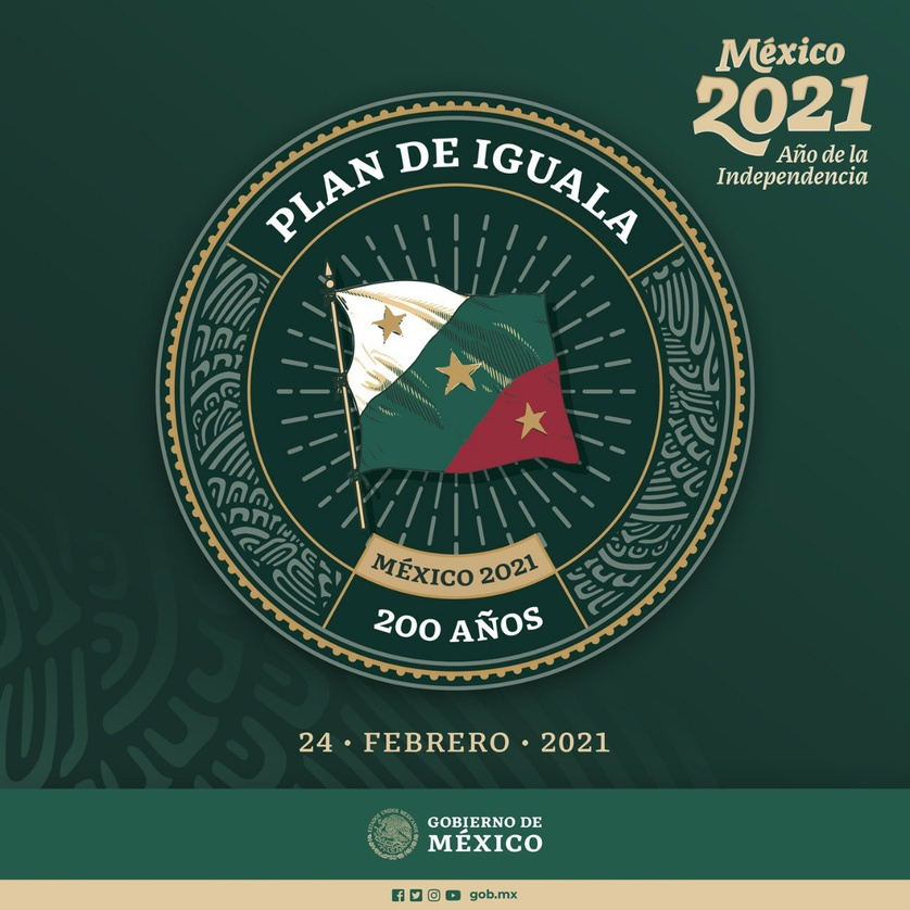 Plan de Iguala, documento fundamental para la consumación de la Independencia de México.