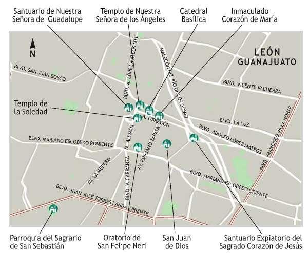 Mapa de la Ciudad de Leon Gto Mapa General de la Ciudad de